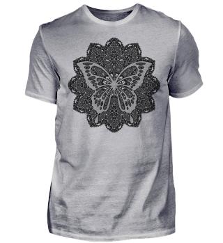♥ Vintage Mandala I Butterfly I - black