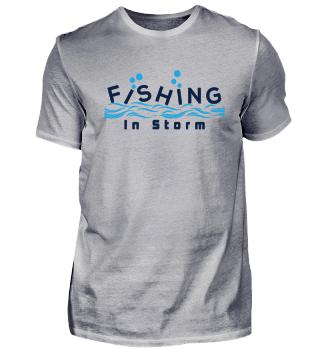 Sturm Fischen Fisch Angeln Fischer