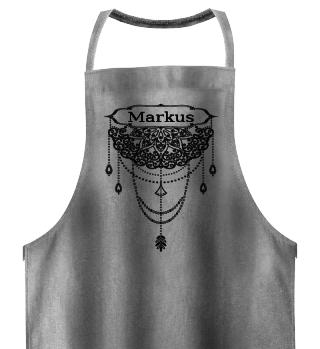 Dotwork Tattoo Mandala 1 Name - black