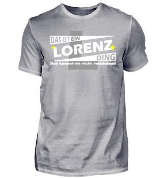 LORENZ DING | Namenshirts