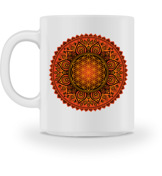 ♥ FLOWER OF LIFE Folklore Mandala I MUG