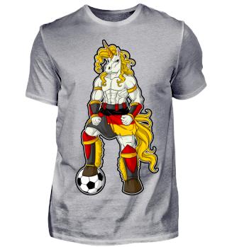 I Germany Einhorn Fussball Deutschland T-Shirt WM Shirt Nationalmannschaft Fanshirt Länder