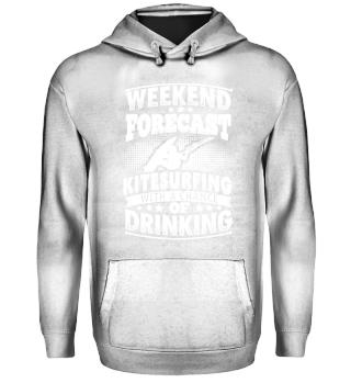 Funny Kitsurfing Shirt Weekend Forecast