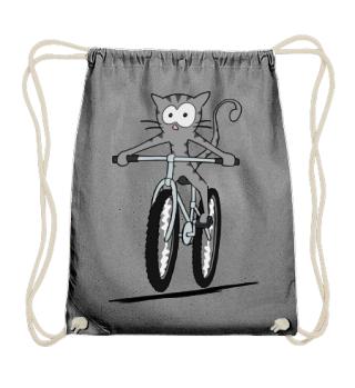 Katze auf Fahrrad fahren Bike Cat