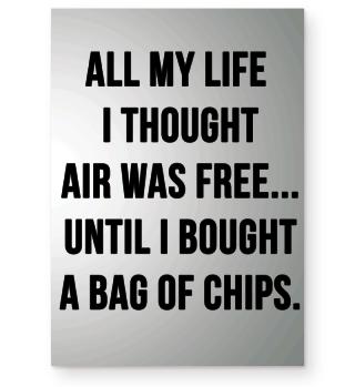 Chips Poster lustiger Spruch Geschenk