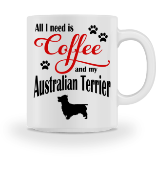 Coffee and my Australien Terrier
