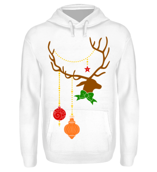Christmas Deer with Ornaments I