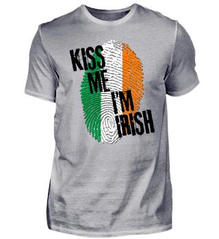KISS ME I'M IRISH - Flag Fingerprint