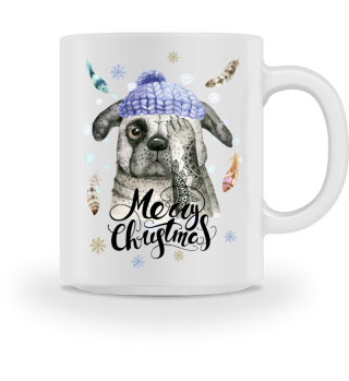 ☛ Merry Christmas · Boho Dog #10BT
