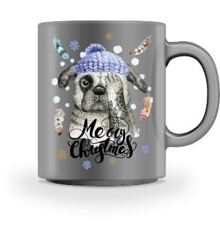 ☛ Merry Christmas · Boho Dog #10BT