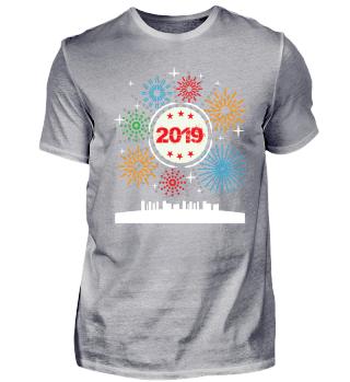 Silvester T-Shirt Geschenk Party 2019