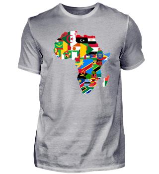 Afrika - Umrisse und Flaggen