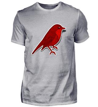 roter Vogel Frühling T-Shirt