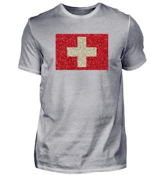 Schweizerfahne Glitzer Schweiz Fahne