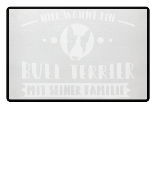 Bull Terrier Fußmatte-Familie