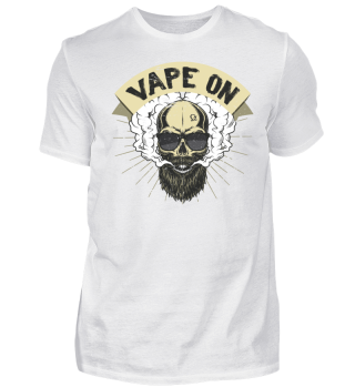 Cloud Chaser - Vaping Bearded Skull - Vape On