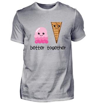 Eiskugel + Eiswaffel