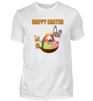 Happy Easter Bunny and Eggs - Gift Idea
