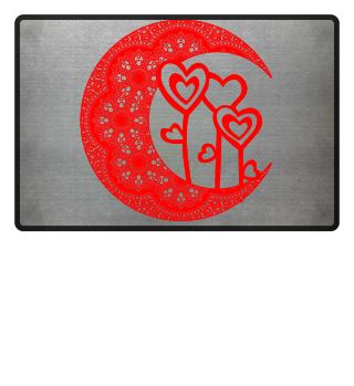 ★ Half Moon Mandala - Love Hearts 3