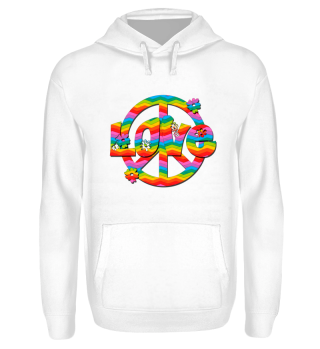 Colorful Peace and Love