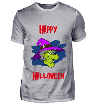 Happy Halloween mit Hexe