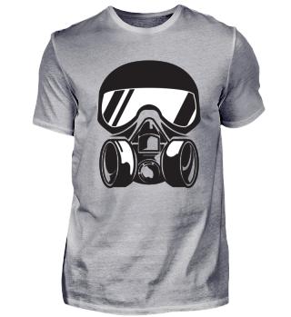 Gasmask black and white