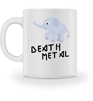 Süßer Death Metal Elefant Tasse Geschenk