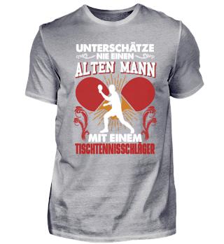 Alter Mann Tischtennis Schläger