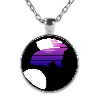 Bunny Silhouette Lines Shape Design
