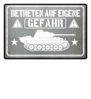 Panzer Panzerfahrer Türmatte Fußmatte