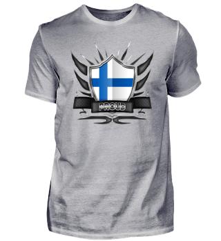 Finnland-Finland Proud Wappen Flagge 012