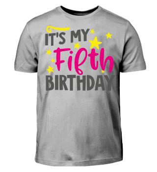 Baby Kid Girl Fifth Birthday