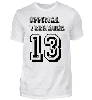 Funny T Shirt Official Teenager - 13