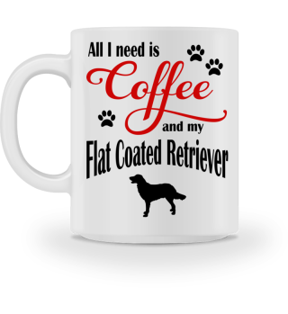 Coffee and my Flat Coated Retriever