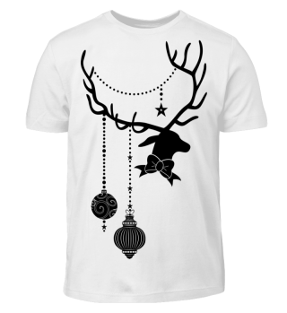 Christmas Deer with Ornaments II