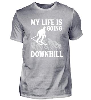 Skifahren downhill Wintersport