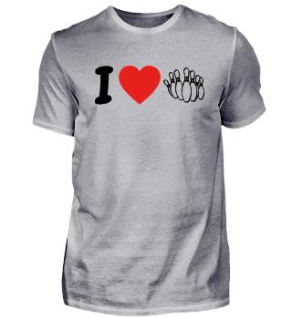 Ich liebe bowlerin geschenk geburtstag liebe
