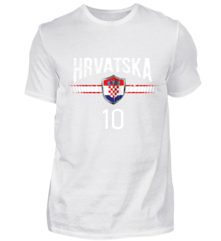 KROATIEN FAN-SHIRT Nationalfarbe Fußball