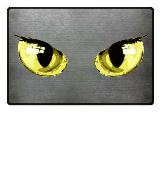 Katzenaugen cats monster eyes Fussmatte