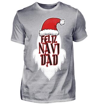Feliz Navi Dad Christmas Humour Pun Gift