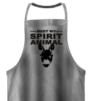Meet Spirit Animal - donkey - black
