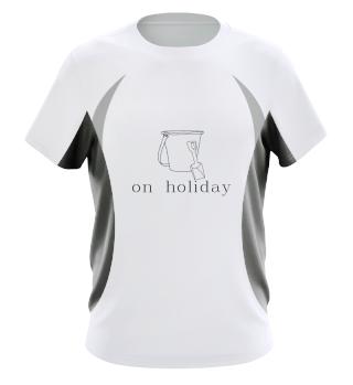 On holiday  Beach vacation sea gift idea