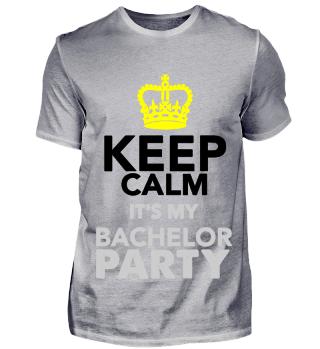 GIFT- KEEP CALM BACHELOR PARTY GRAY