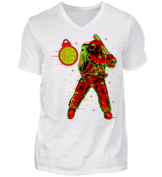★ Christmas Space Baseball Player II