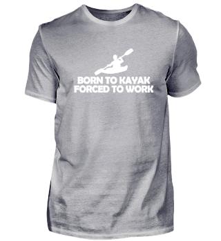 Born to kayak love heart kayaker