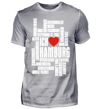 ♥ Ich Liebe HAMBURG - weiss