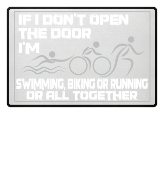 I'm a triathlete - doormat