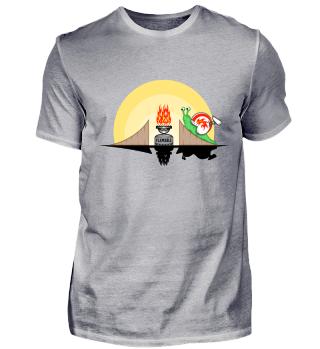 Snail fire stunt funny T Shirt Gift