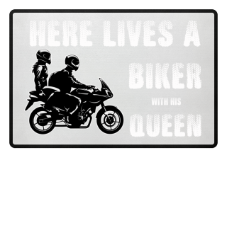 Biker Queen door mat