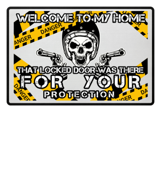 Welcome to my Home - door mat